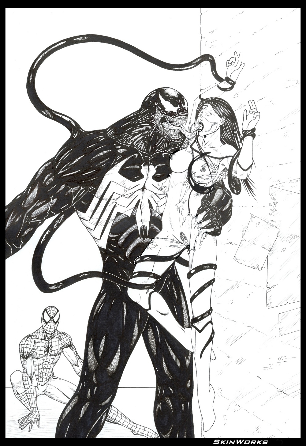 of shadows spider symbiote characters web man Mei ling zhou