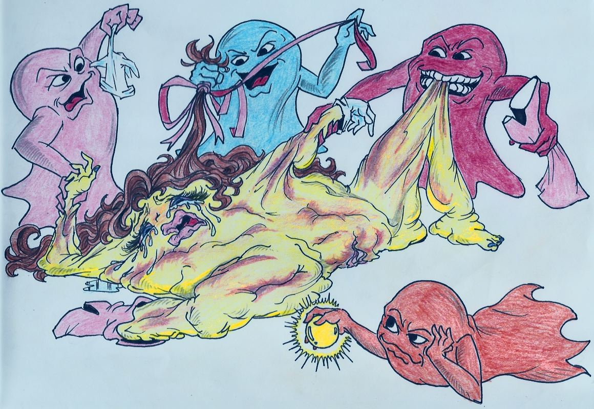 inky pinky pac man blinky clyde Guardians of the galaxy bug girl