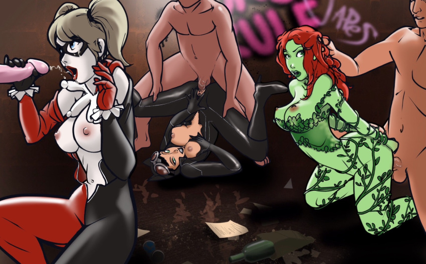 catwoman sex having harley and quinn Shadow of the colossus kuromori